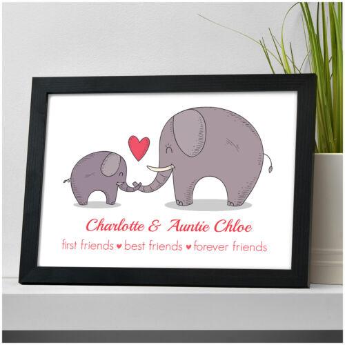 Son Noël Personnalisé éléphant cadeaux pour maman Mamie Grand-Mère Tante Nanna