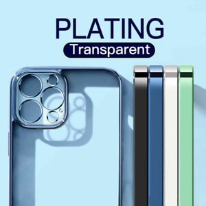 Case-For-iPhone-12-Pro-Max-11-XR-XS-X-7-8-SE-Shockproof-Plating-Soft-Clear-Cover