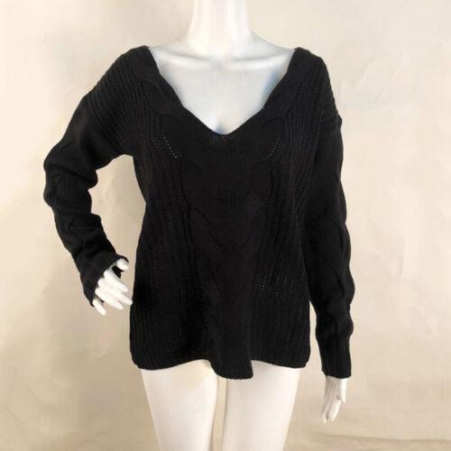 Tops Frauen Knitwear Tops V-Ausschnitt Damen Frauen Knitwear T-Shirt Langarm Neu