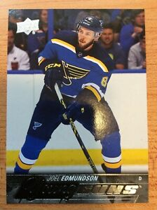 UPPER-DECK-2015-2016-SERIES-ONE-JOEL-EDMUNDSON-YOUNG-GUNS-HOCKEY-CARD-207