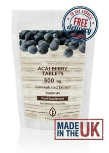 Acai Berry Extract 500mg Tablets Nutrition BritVits Pills