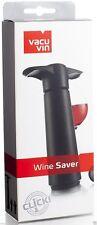 Vacu Vin Wine Saver Concerto Pump with 4 x Vacuum Bottle Stoppers - Black