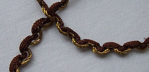 Vintage Gold Metallic Corded Trim Gold Metallic Accent French