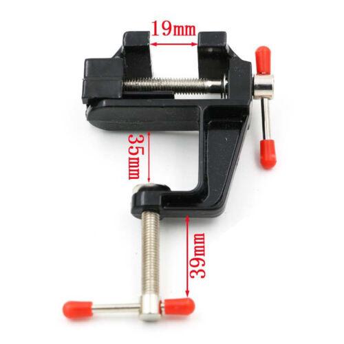 Mini Table Vise Aluminum Alloy Bench Vice Swivel Lock Clamp Craft Hobby Cast New