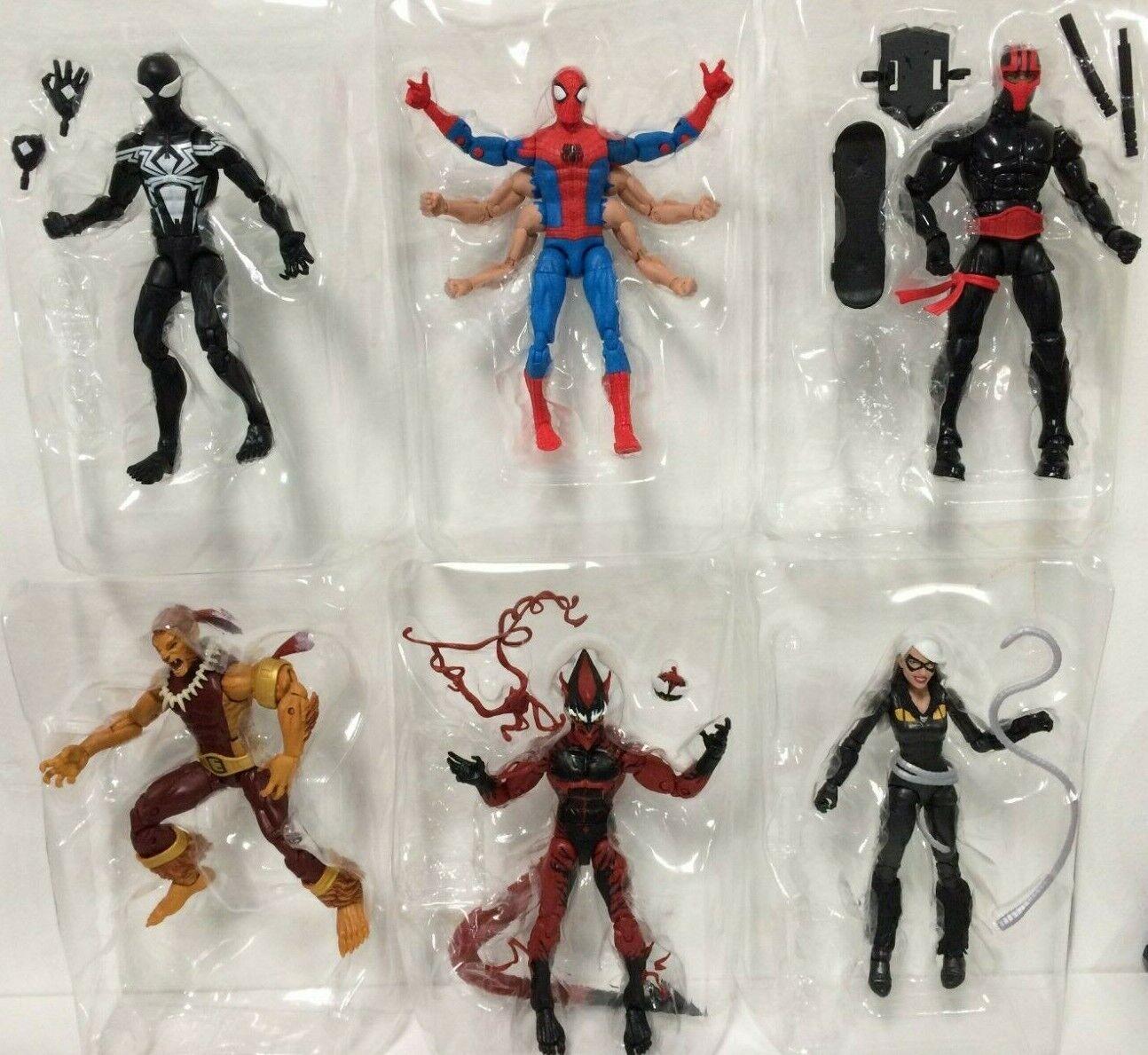 6X Marvel Legends Spider-Man Symbiote Night Thrasher rot Goblin NO KINGPIN BAF