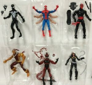 6x Marvel Legends Spider-Man Symbiote Nuit Thrasher Gobelin Rouge Pas Baf Kingpin