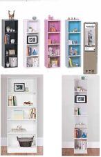 3, 4 Tiers Bookshelf Bookcase Stand Free Shelf Shelves Storage Display Unit Wood