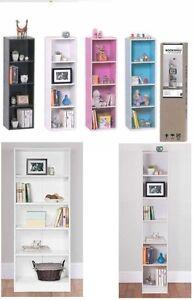 3-4-Tiers-Bookshelf-Bookcase-Stand-Free-Shelf-Shelves-Storage-Display-Unit-Wood