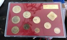Proof Like Coin Set Soviet Union Russia 1974 10 Token Coins UNC KM#MS15