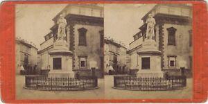 Milan Cesare Beccaria Soprammobile Italia Foto Stereo Vintage Albumina Ca 1875