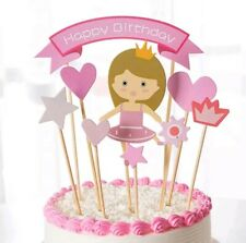 b56697c9f Pink Gold Ballerina Tutus Cake Topper for Girls Princess Birthday ...