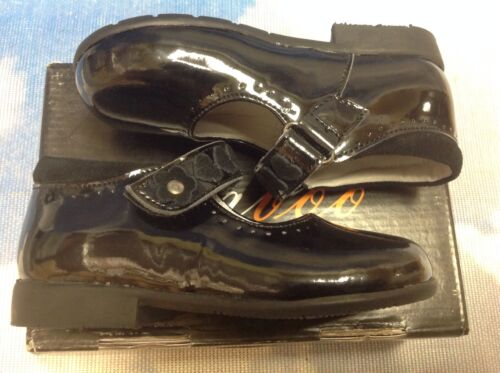 8.5 Cavoo Girls Black Patent Leather Hook /& Loop Mary Janes Toddler Size 7.5 8