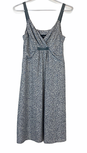 Tokito-Womens-Grey-Floral-Sleeveless-Dress-Size-10