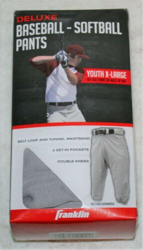 Franklin   Baseball  Softball  PANTS   Youth X-Large   Gray Grey   LOT7870 NEW