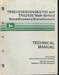 image is loading john-deere-tm1466-technical-tech-manual-trs21-trs24-