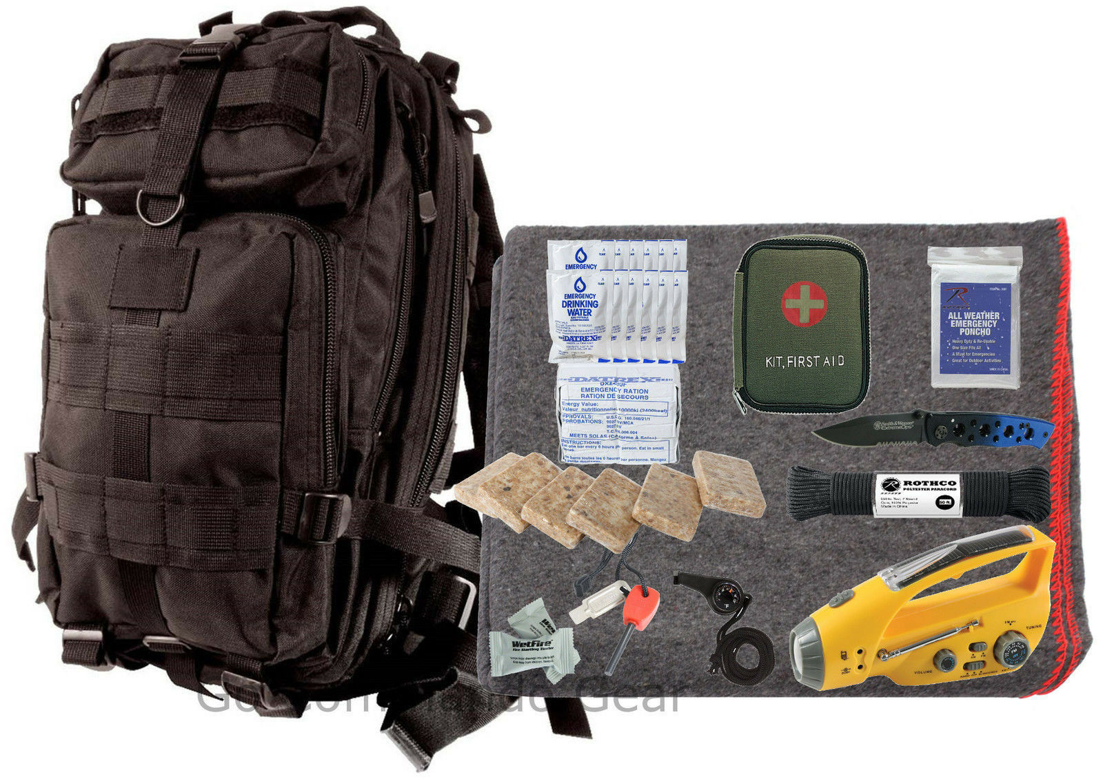 72  Hour Emergency Prep Kit - Food Water First Aid & More - Disaster Bug Out Bag  clearance up to 70%