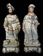 Antique Old  Paris / Jacob Petit Porcelain Figurines Scent Perfume Bottles