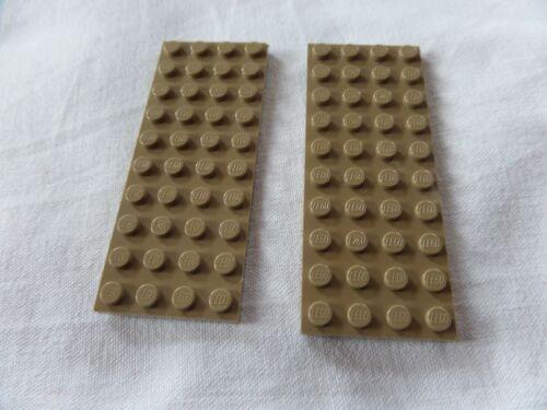 2x Lego 3030 plaque 4x10 Foncé Beige Dark Tan d/'occasion 6001001