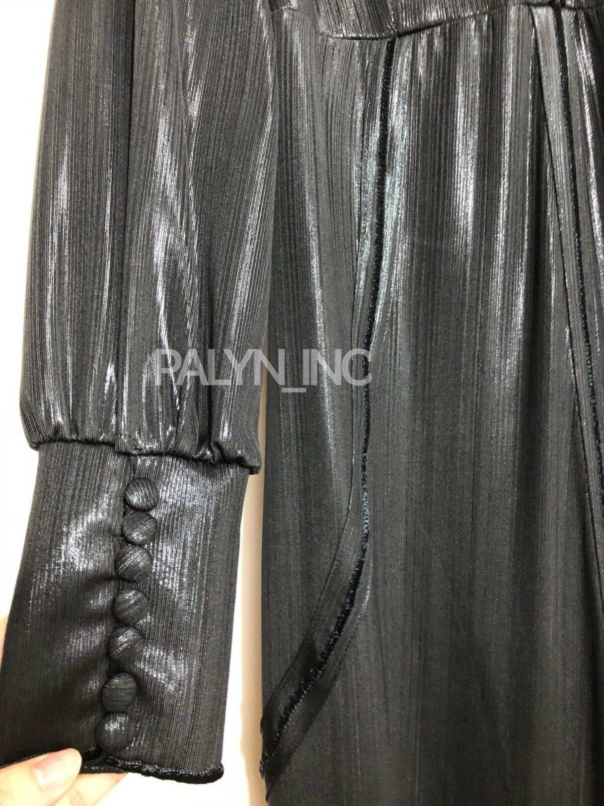 Nuevo con Etiqueta  119 Zara AW18 Studio Maxi Negro Negro Negro Largo Brillante Vestido _ S aae99d