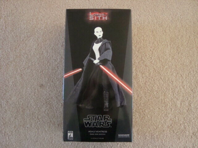 NIB STAR WARS ASAJJ VENTRESS 1 6 SCALE ORDER OF JEDI SIDESHOW EXCLUSIVE
