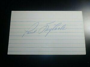 Paul-Foytack-Detroit-Tigers-Angels-SIGNED-AUTOGRAPH-AUTO-3x5-INDEX-CARD