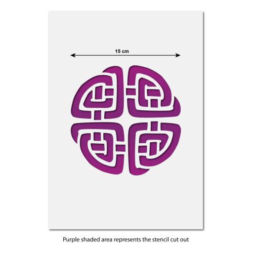 15 cm x 15 cm  Celtic Knot Stencil Template CraftStar Celtic Knot Stencil