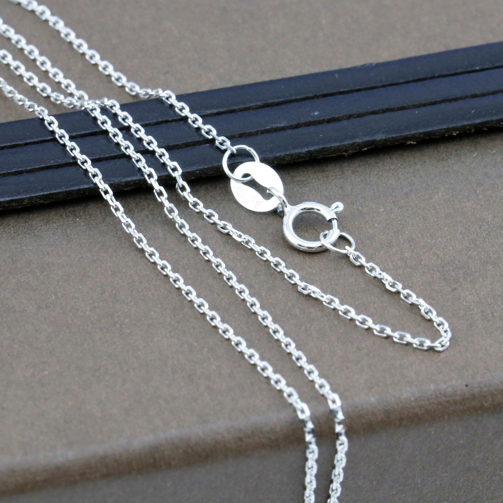 Genuine 18CT Solid WG Fine Square Trace Chain 45cm  Made