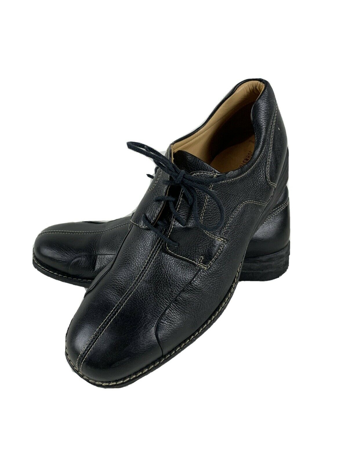 Johnston Murphy Sheepskin Split Toe Lace Up Oxford Shoes Mens 13 M Black