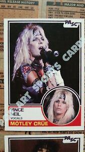 Custom Art Rock Baseball Trading Cards 1983 Motley Crue Shout at the Devil Lot
