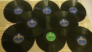 Numero-25-Dischi-78-giri-vintage-anni-40-di-luciano-tajoli-odeon-e-altri