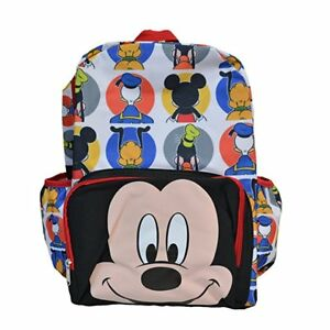1ac99a7e404 12in Licensed Mickey Mouse Happy Face 3D White Small School Backpack ...