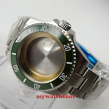 43mm PARNIS Ceramic Bezel Sapphire Glass Fit ETA 2824 2836 Movement Watch Case