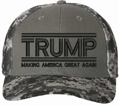 Trump 2020 TAC600 hat with Side Flag Make America Great Again Embroidered hat