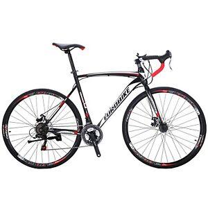 Road-Bike-21-Speed-Mens-Bikes-700C-wheels-Bicycle-Disc-Brakes-54cm