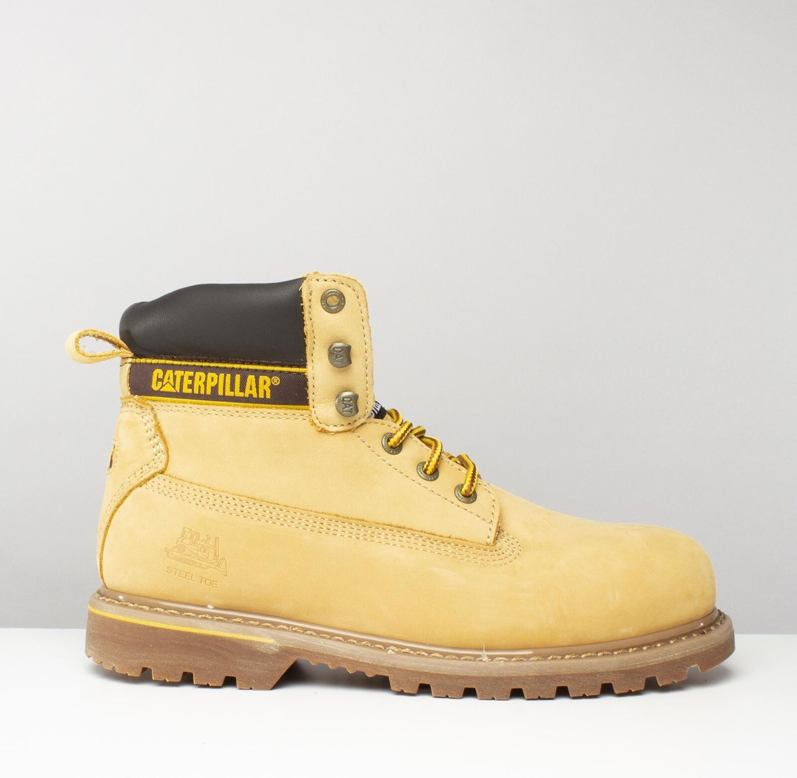Caterpillar ® Holton Para hombre S3 SRC Puntera De Acero Miel botas De Seguridad Resistente al Agua