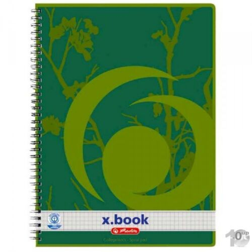 10 Stück herlitz Recycling Collegeblock x.book A4 80 Blatt kariert