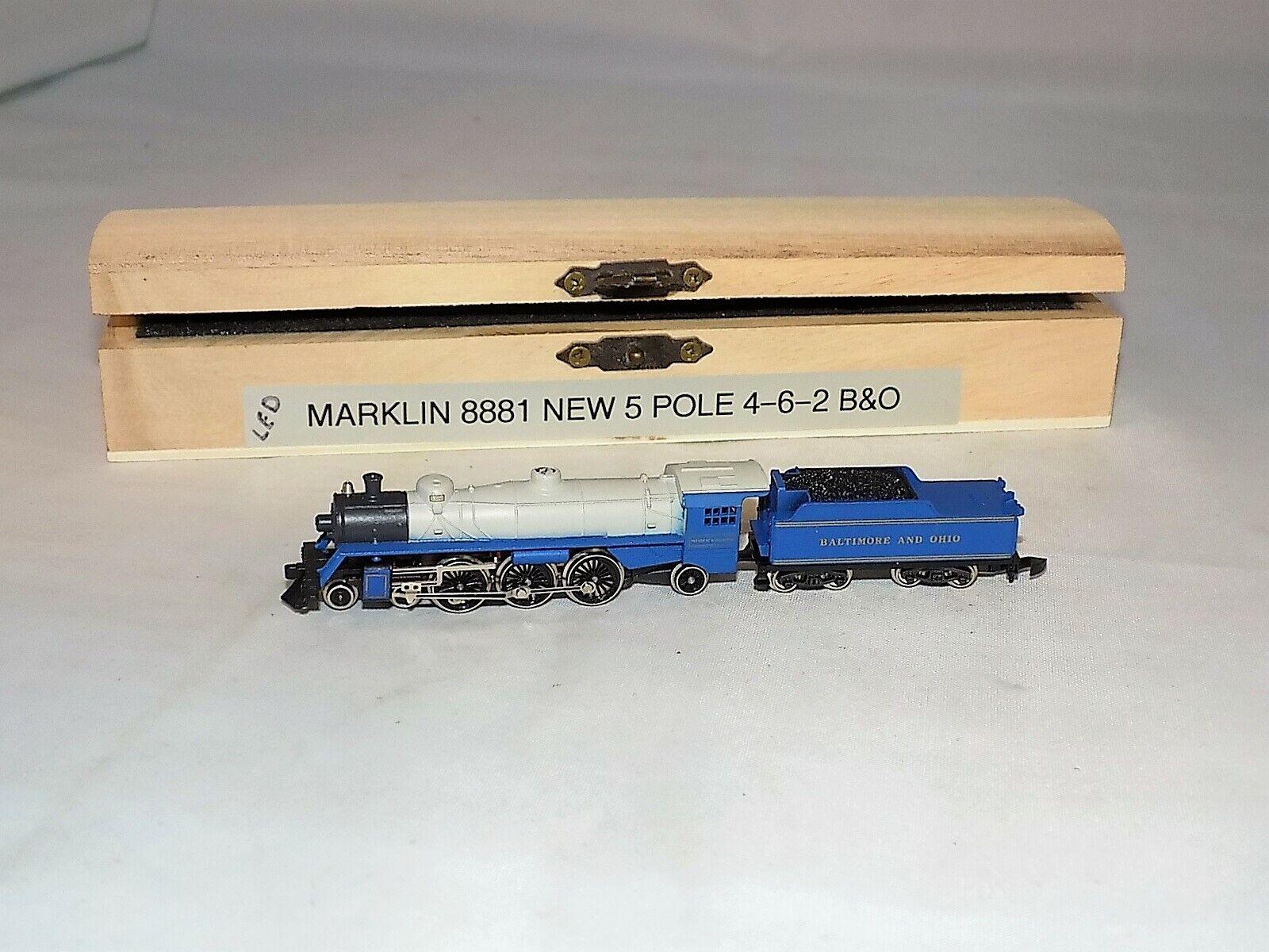 Z Escala Marklin 8881 Pacific 4 6 2 B&o Locomotora y Tender Nuevo 5 Polo Motor