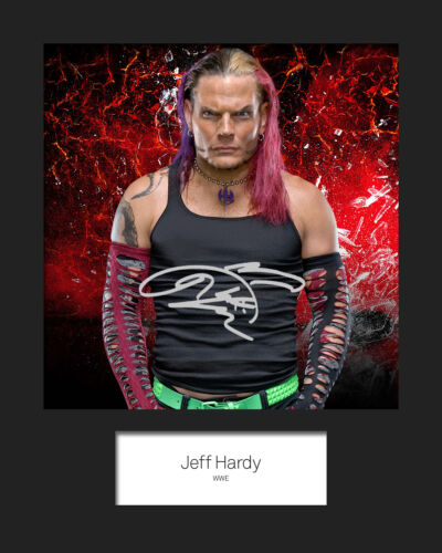 Reprint JEFF HARDY #2 WWE FREE DELIVERY 10x8 Mounted Photo Print Signed