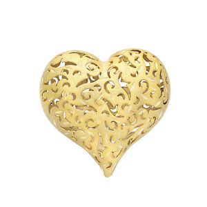 Yellow-Gold-Plated-925-Sterling-Silver-Filigree-Heart-Ring-Jewelry