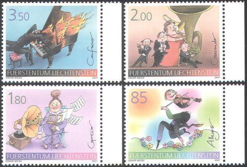 Liechtenstein 2007 Music/Piano/Violin/Tuba/Musical Score/Instruments 4v (n42313)