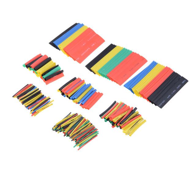 328Pcs 2:1 Ratio Polyolefin Heat Shrinkable Tubing Sleeving Wrap Cable Kit Y RAS