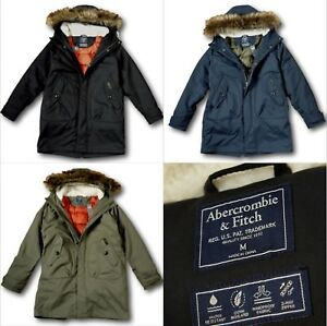 Details about NWT Abercrombie&Fitch by Hollister Men's M51 Down Filled Parka Winter Jacket
