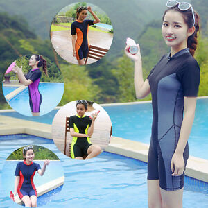 Women-s-Short-Sleeve-One-piece-Swimming-Suits-Padded-Swimwear-Boxer-Swimsuits
