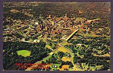 Postcard  GREENVILLE SC Pre Landmark Building S CHURCH St. Downtown AERIAL 1960s