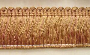 "BUF342-0231 1//2/"" Cording Trim antique gold rust brown have tassel Fringe Gimp"