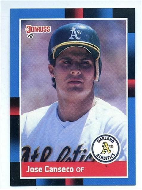 1988 Donruss Jose Canseco 302 Baseball Card