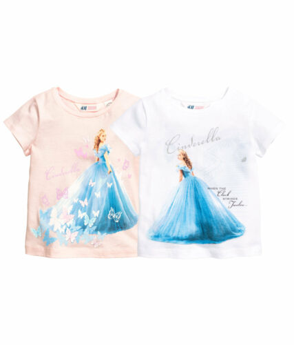 Pack T-Shirts  Gr.98//104 H/&M  Disney Cinderela 2er 110//116 122//128 NEU
