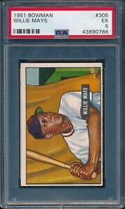 1951-Bowman-Baseball-Willie-Mays-R-305-PSA-5-GIANTS-EX-HOF