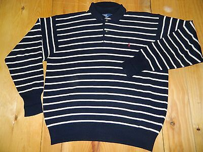 Modesto 1990's Polo Ralph Lauren A Righe Taglia Xl Made In Hong Kong Usato Limpid In Sight