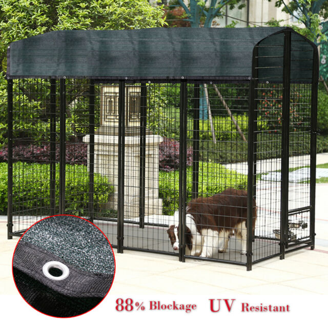 Dark Green Sunblock Shade Cloth 6 X 10 Ft Super Large Outdoor Dog Kennel Cover